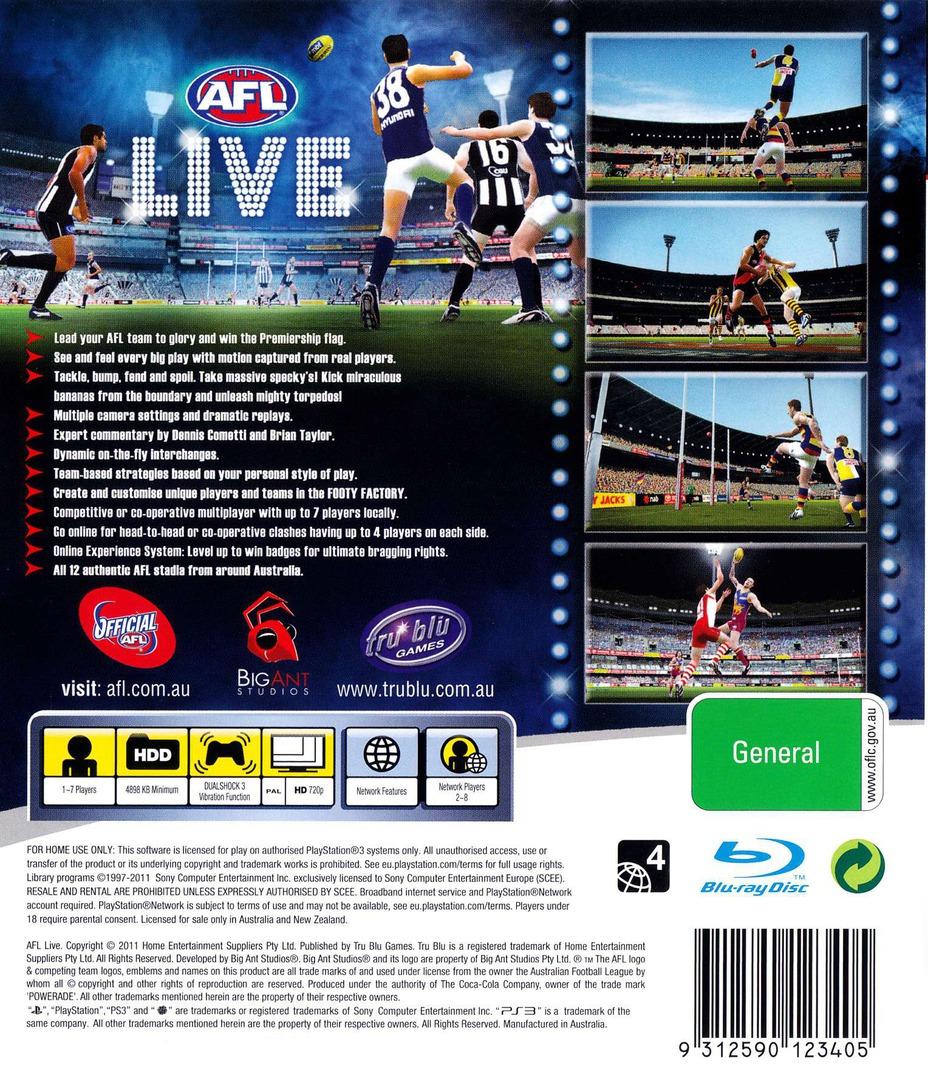 AFL Live PS3 backHQ (BLES01038)
