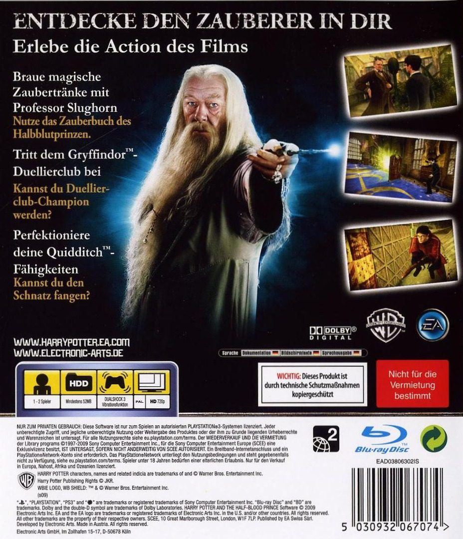 Harry Potter und der Halfbblut-Prinz PS3 backHQ (BLES00424)