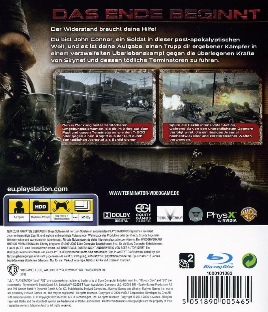 Terminator-Die Erlüsung PS3 backHQ (BLES00537)