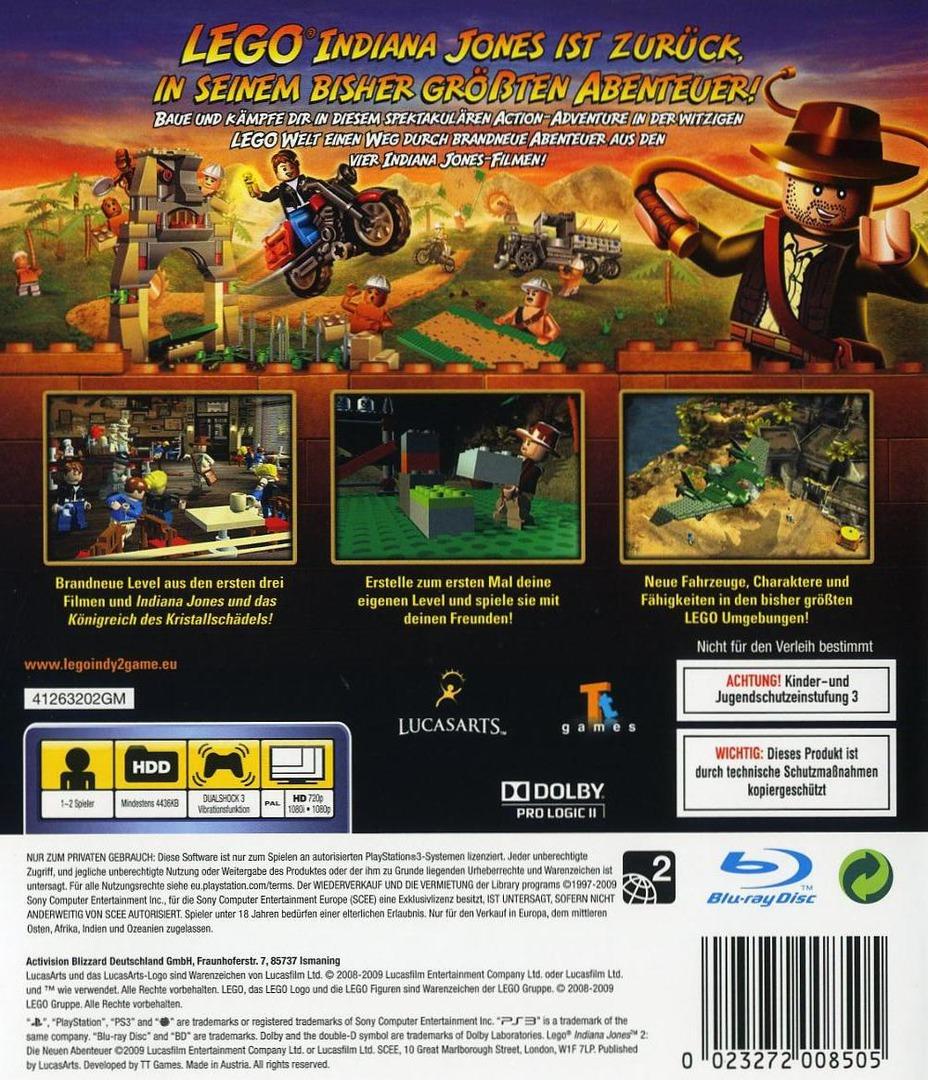 LEGO Indiana Jones 2: Die Neuen Abenteuer PS3 backHQ (BLES00763)
