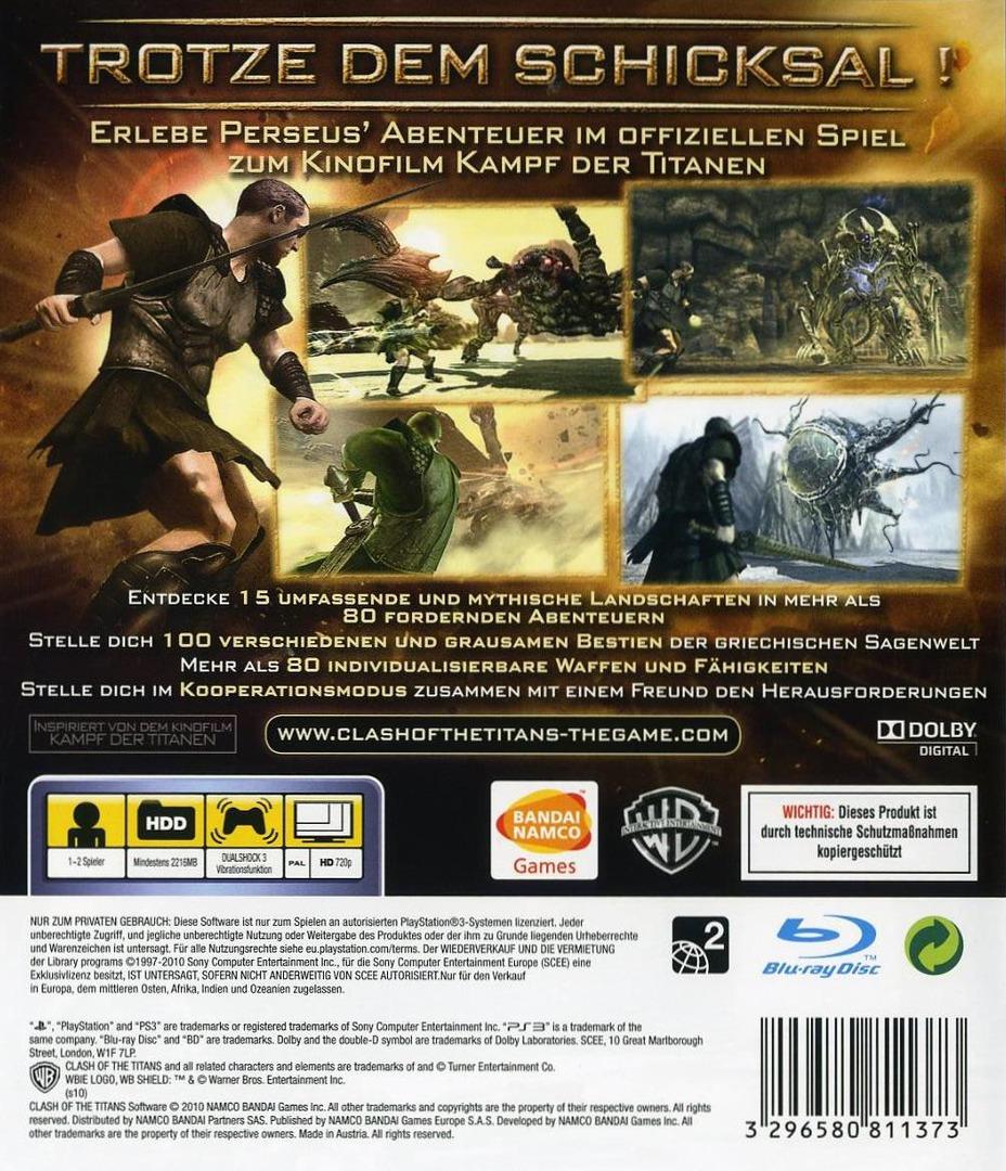 Kampf der Titanen: Das Spiel PS3 backHQ (BLES00841)