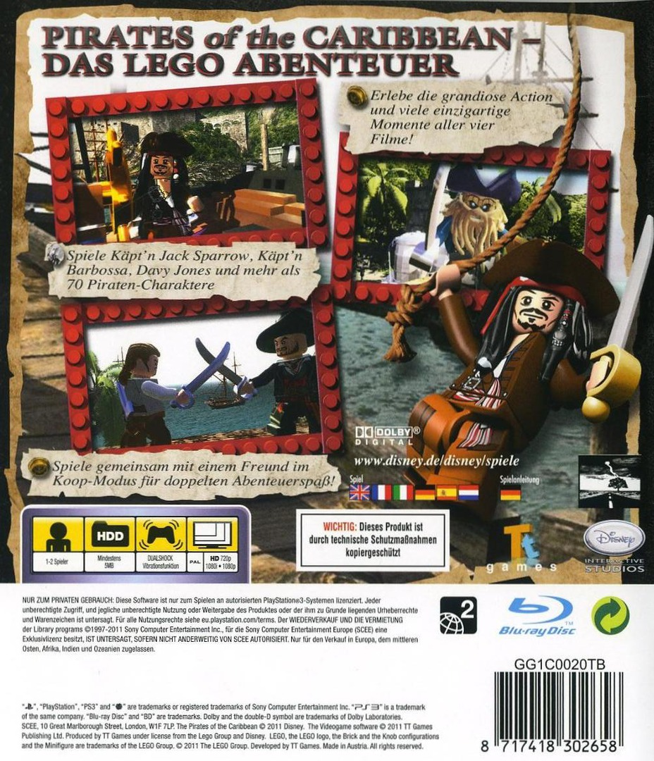 Pirates of the Caribbean: Das Videospiel PS3 backHQ (BLES01239)