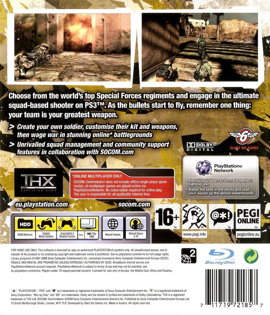 SOCOM Confrontation PS3 backHQ (BCES00173)