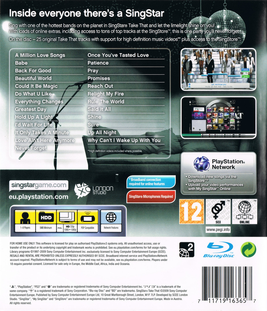 SingStar: Take That PS3 backHQ (BCES00607)