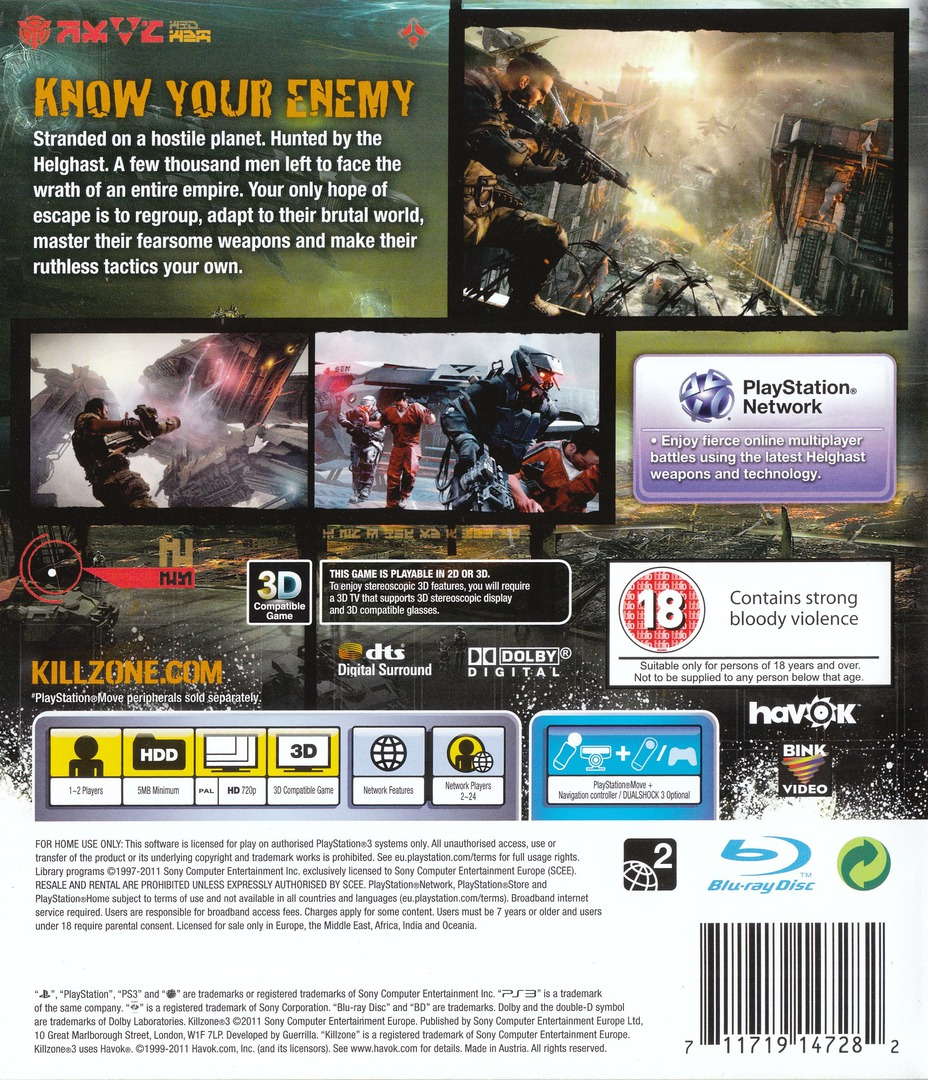 Killzone 3 PS3 backHQ (BCES01007)