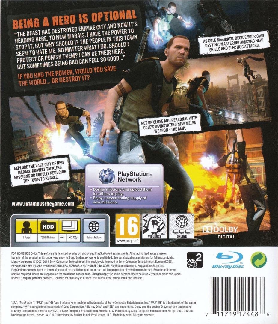 inFamous 2 PS3 backHQ (BCES01143)