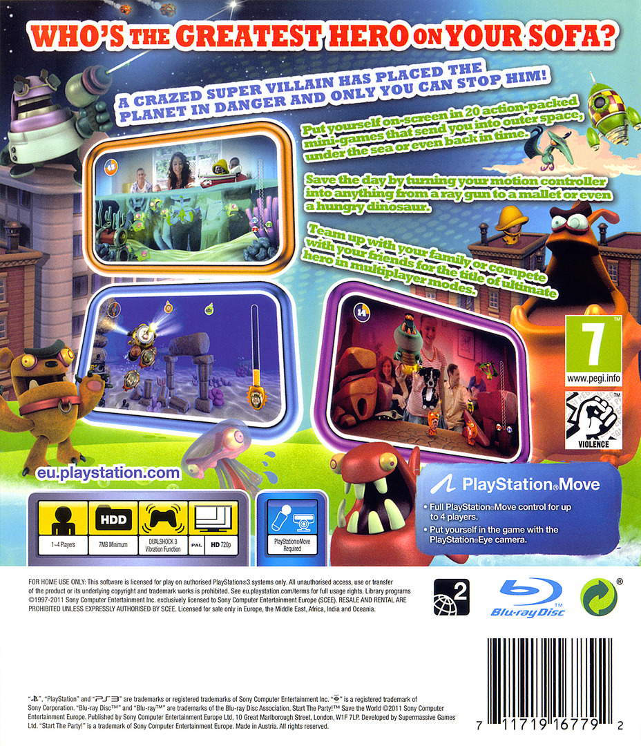 Start the Party! Save the World PS3 backHQ (BCES01274)