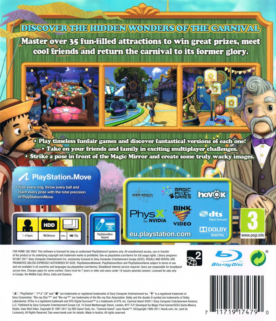 Carnival Island PS3 backHQ (BCES01370)