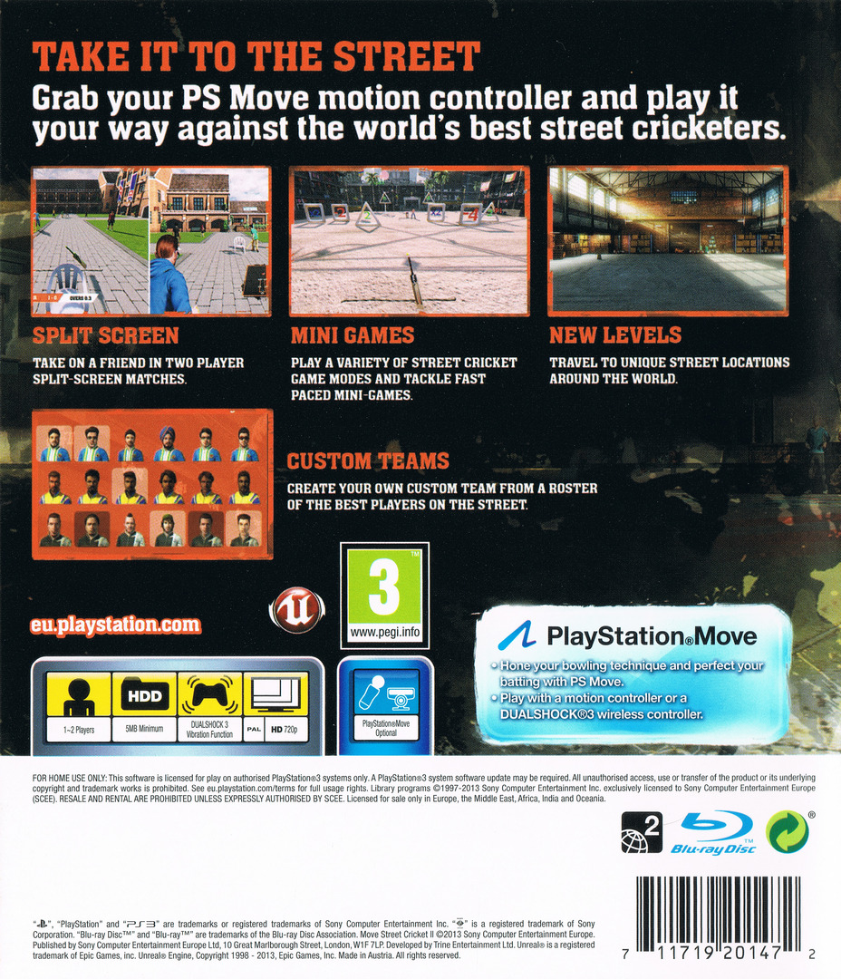 Move Street Cricket II PS3 backHQ (BCES01695)
