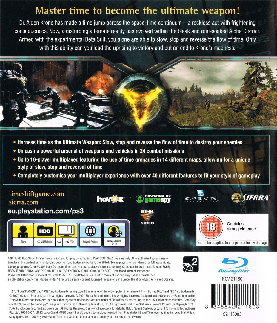 TimeShift PS3 backHQ (BLES00159)