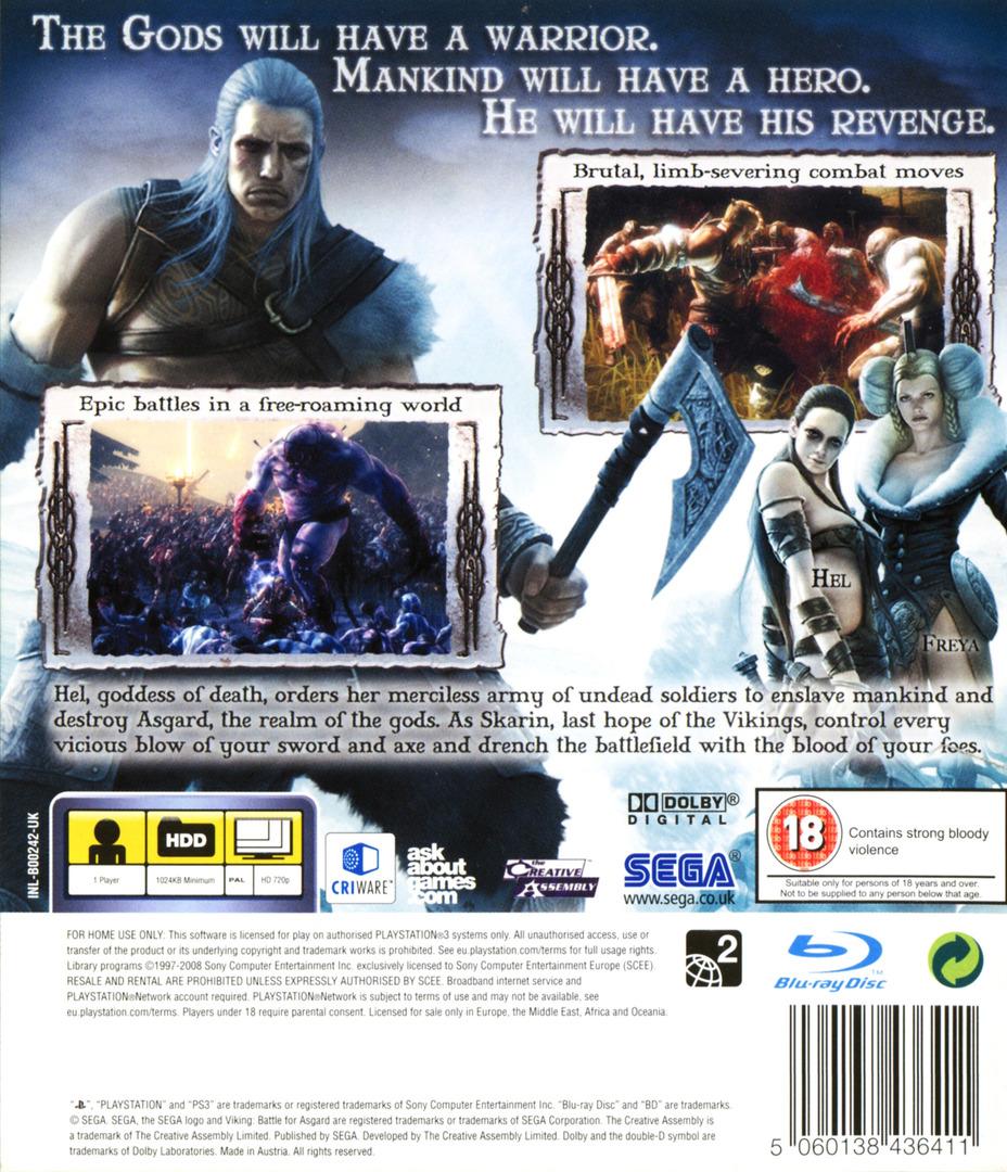 Viking: Battle for Asgard PS3 backHQ (BLES00242)