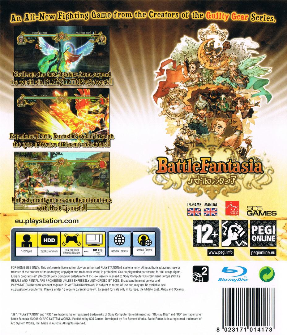 Battle Fantasia PS3 backHQ (BLES00253)