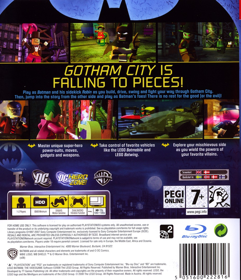 LEGO Batman: The Videogame PS3 backHQ (BLES00332)