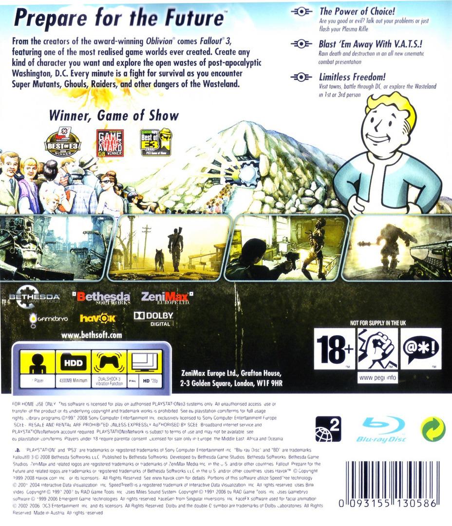 Fallout 3 PS3 backHQ (BLES00333)