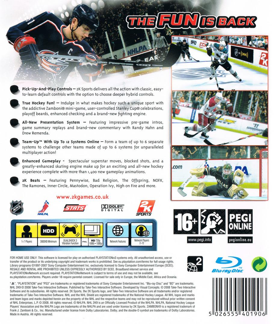 NHL 2K9 PS3 backHQ (BLES00353)