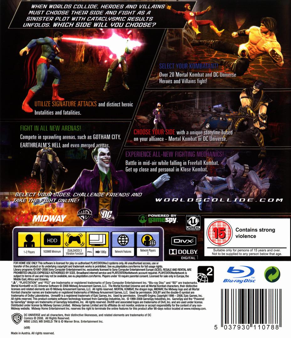 Mortal Kombat vs. DC Universe PS3 backHQ (BLES00441)