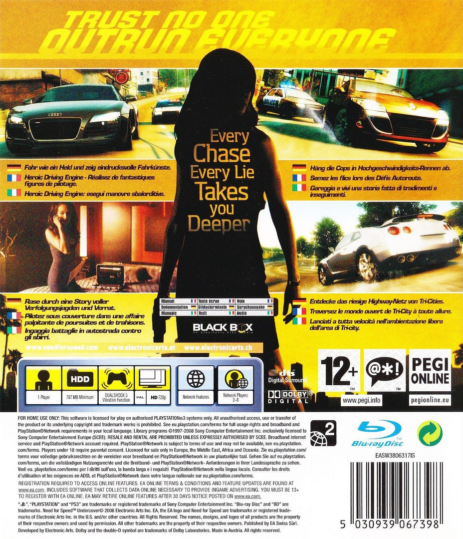 Need for Speed: Undercover PS3 backHQ (BLES00450)