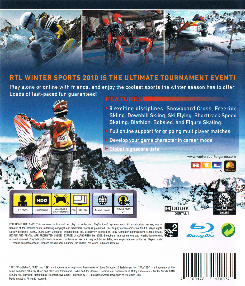 Winter Sports 2010: The Great Tournament PS3 backHQ (BLES00600)