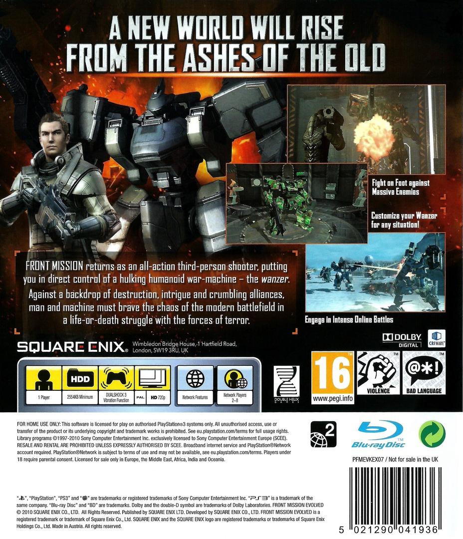Front Mission Evolved PS3 backHQ (BLES00788)