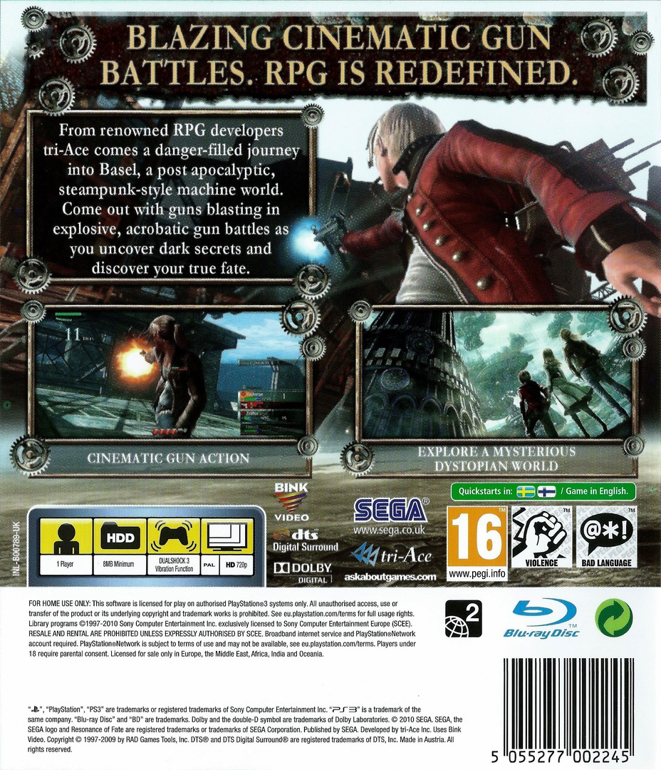 Resonance of Fate PS3 backHQ (BLES00789)