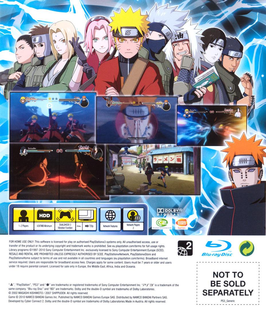 Naruto: Ninja Storm 2 PS3 backHQ (BLES00952)