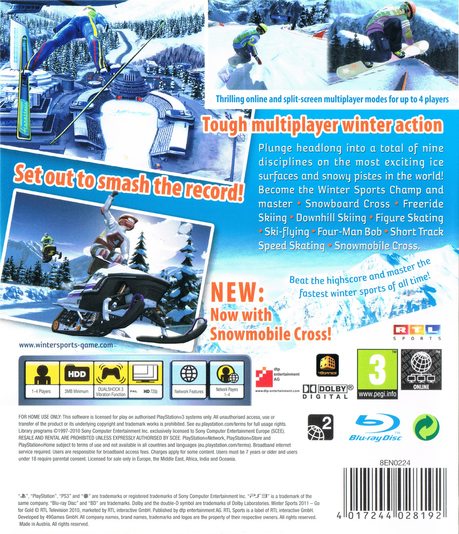 Winter Sports 2011: Go for Gold PS3 backHQ (BLES01061)