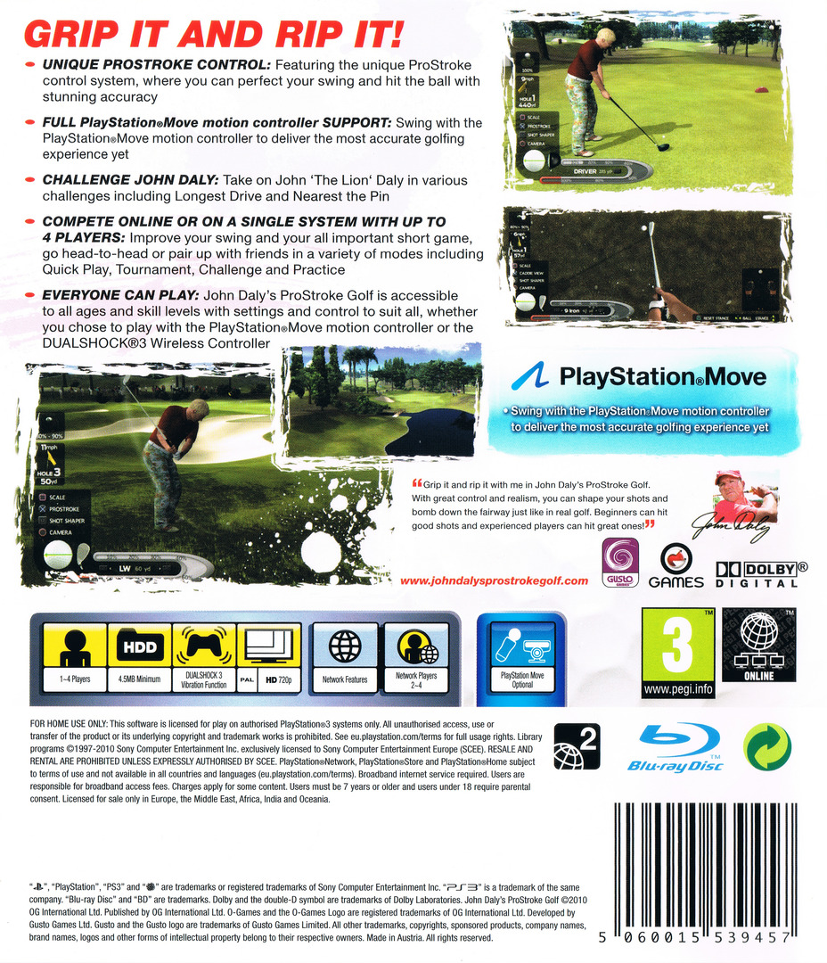 John Daly's ProStroke Golf PS3 backHQ (BLES01089)