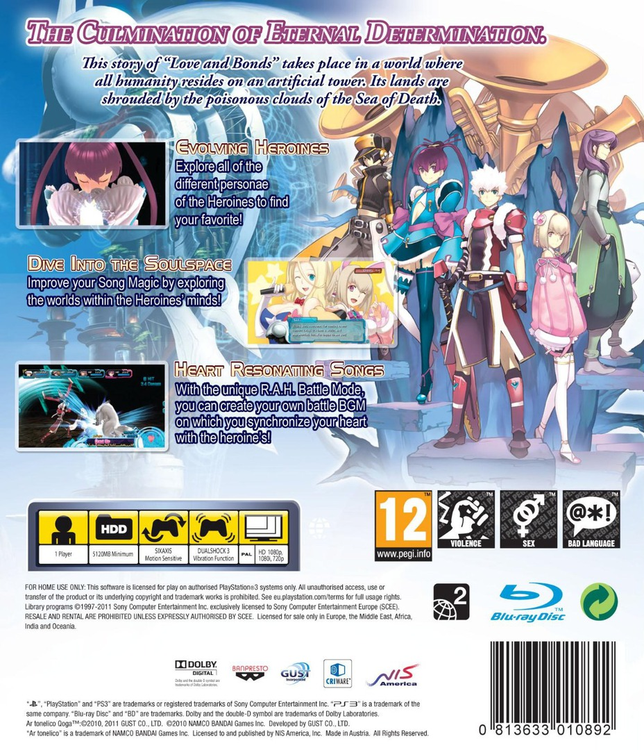 Ar Tonelico Qoga: Knell of Ar Ciel PS3 backHQ (BLES01102)