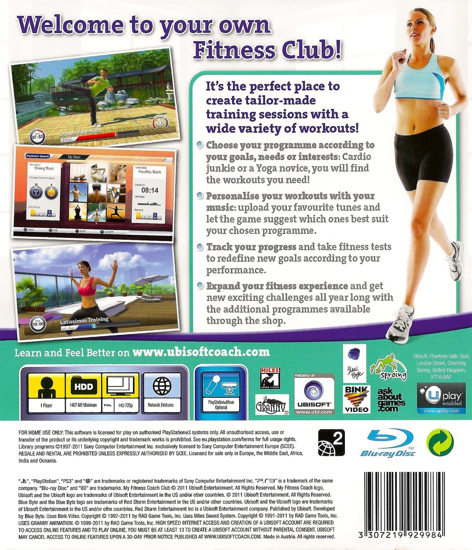 My Fitness Coach - Club PS3 backHQ (BLES01191)