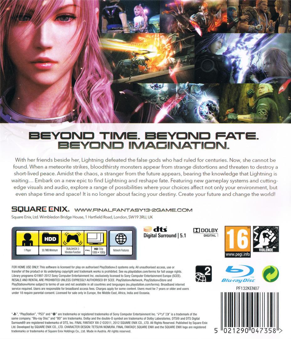 Final Fantasy XIII-2 PS3 backHQ (BLES01269)