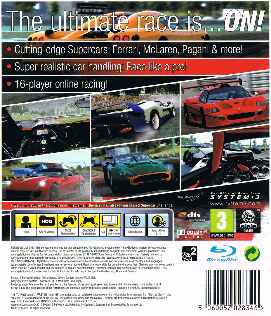 Absolute Supercars PS3 backHQ (BLES01500)