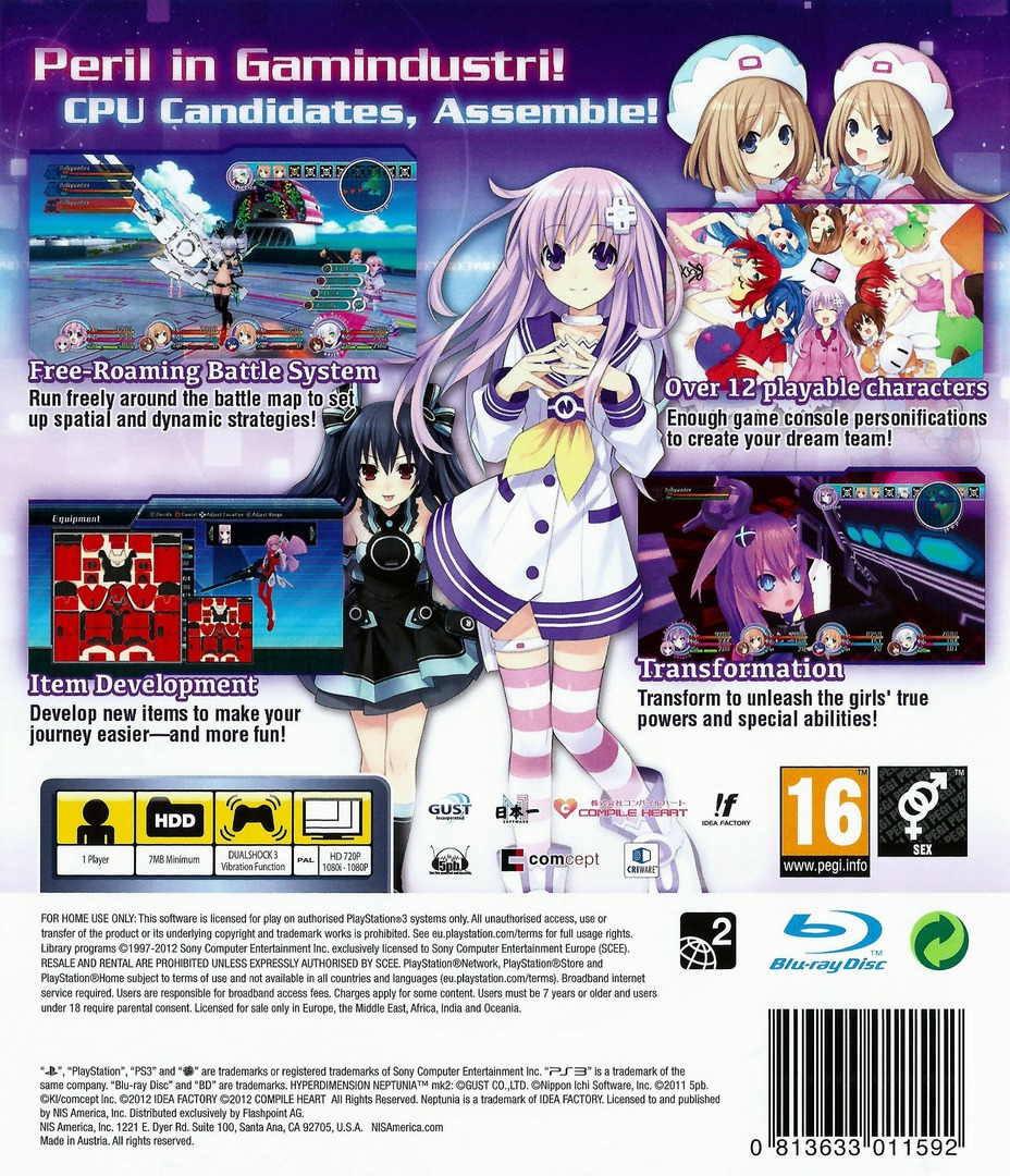 Hyperdimension Neptunia mk2 PS3 backHQ (BLES01507)