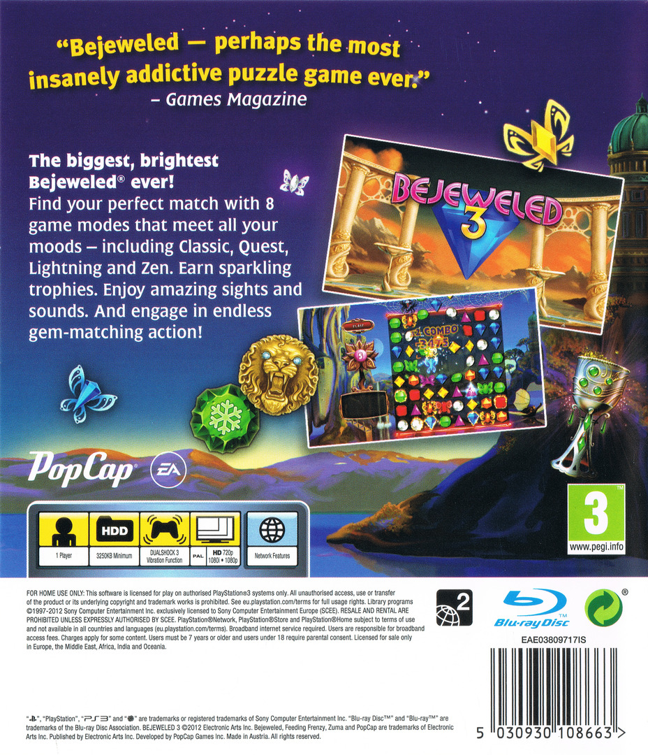 Bejeweled 3 PS3 backHQ (BLES01601)