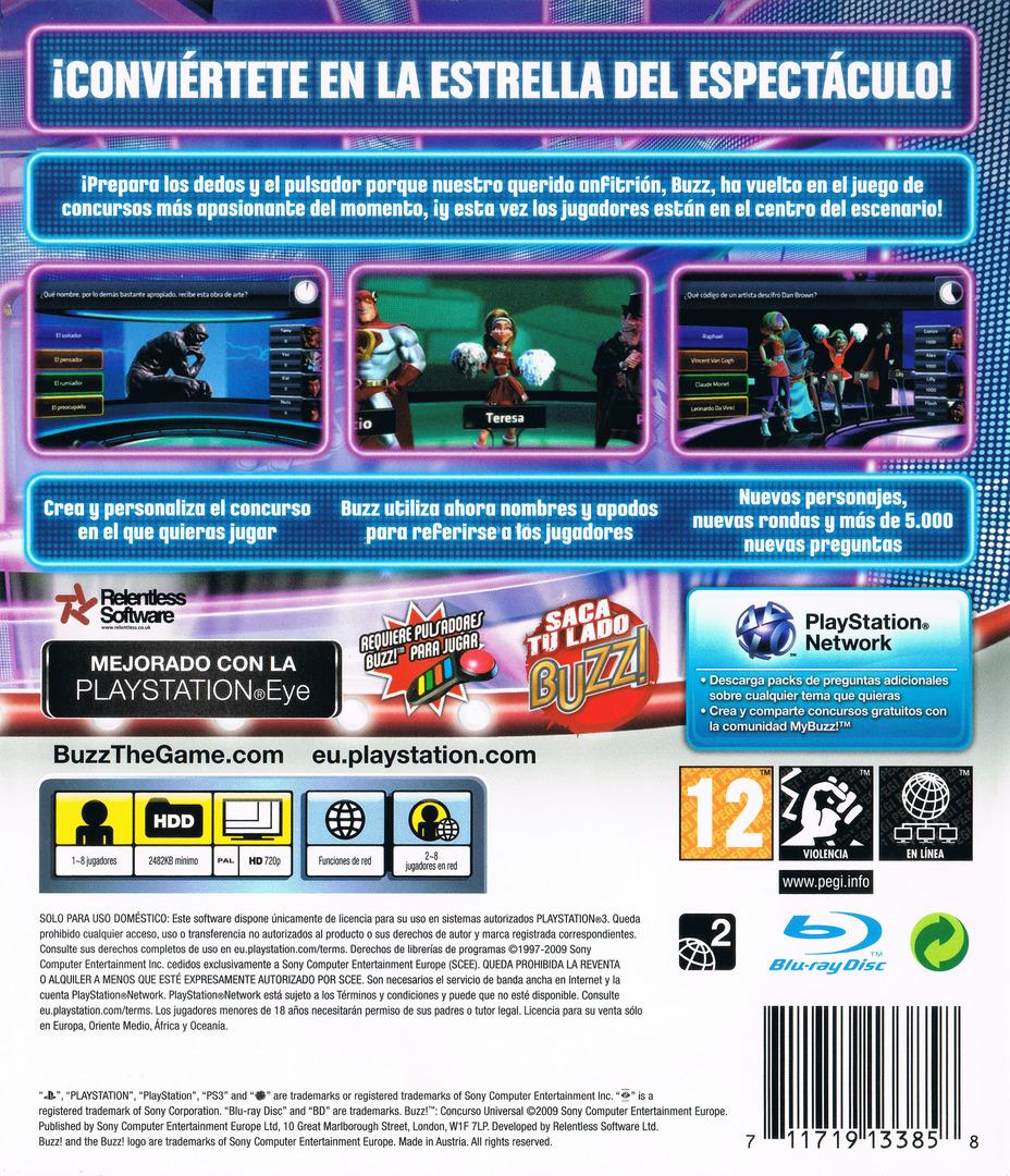 Buzz! Concurso Universal PS3 backHQ (BCES00645)
