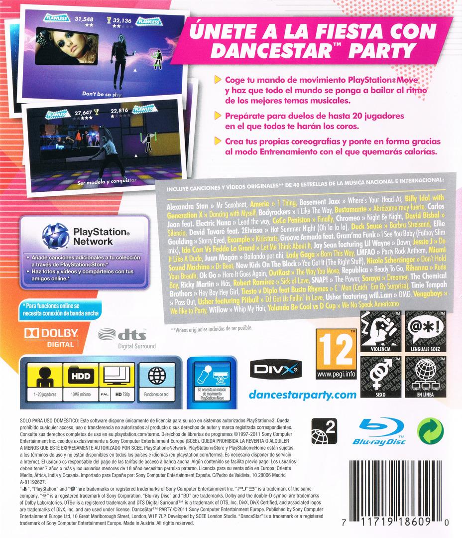 DanceStar Party PS3 backHQ (BCES01361)