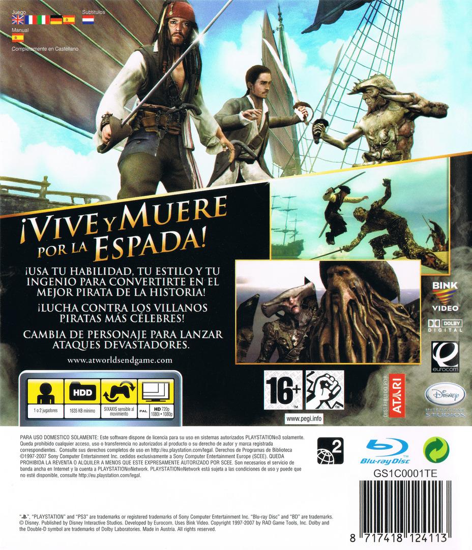 Piratas del Caribe: En el Fin del Mundo PS3 backHQ (BLES00066)