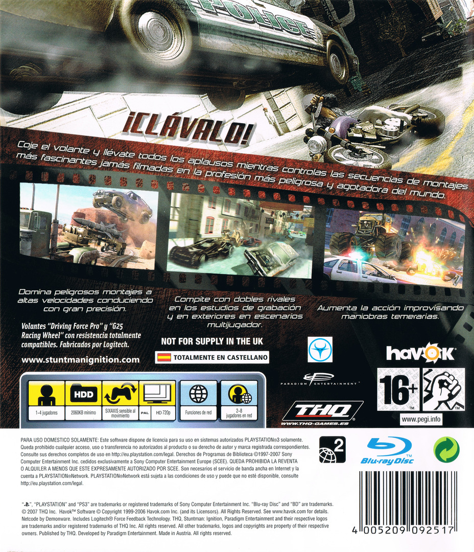 Stuntman: Ignition PS3 backHQ (BLES00135)