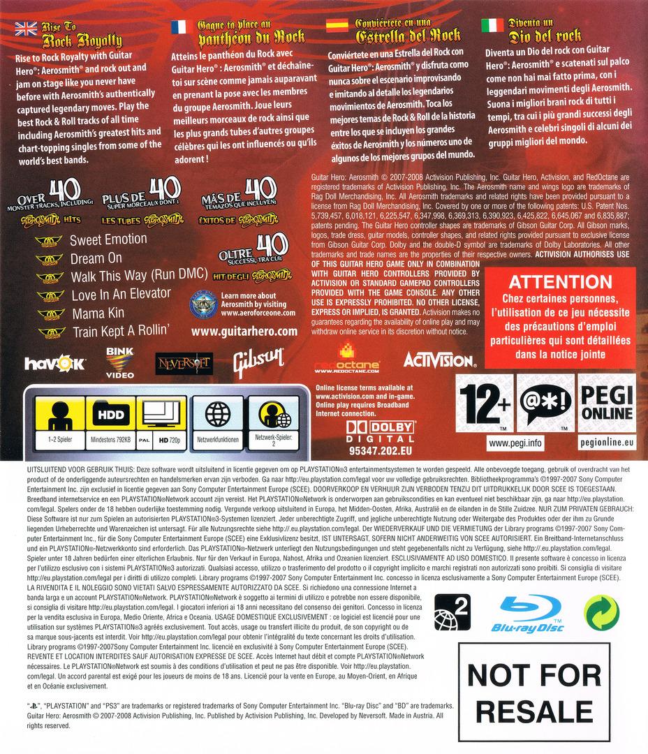 Guitar Hero: Aerosmith PS3 backHQ (BLES00241)