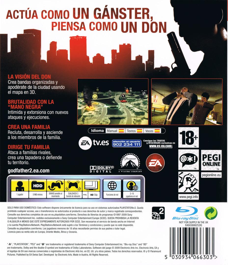 El Padrino II PS3 backHQ (BLES00477)