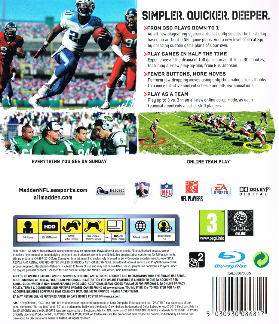 Madden NFL 11 PS3 backHQ (BLES00916)