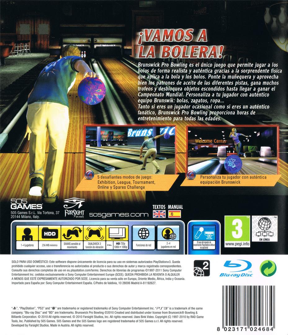 Brunswick Pro Bowling PS3 backHQ (BLES01130)