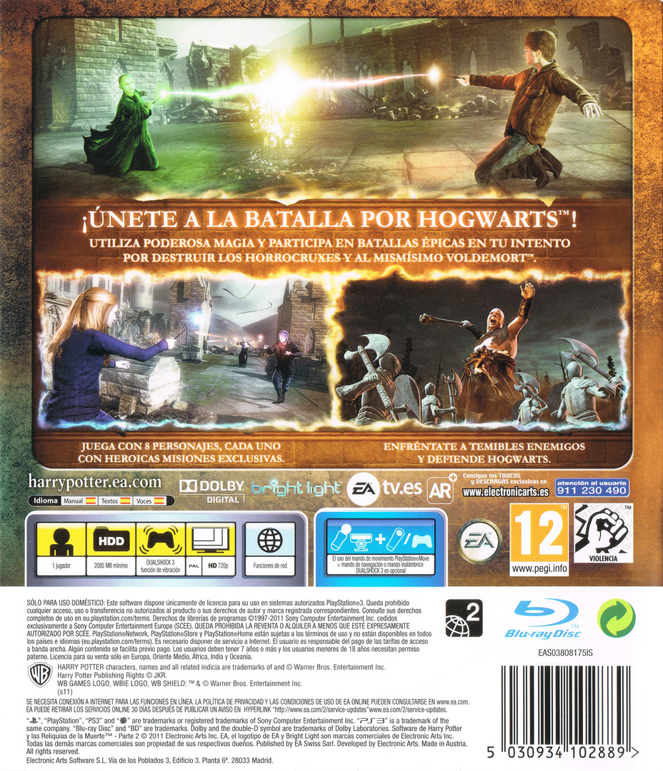 Harry Potter y Las Reliquias De La Muerte - Parte 2 PS3 backHQ (BLES01307)