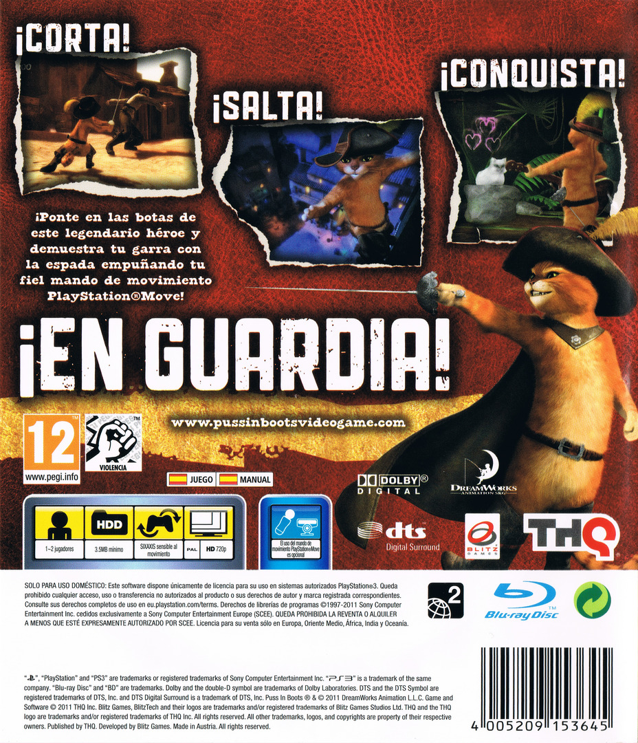 El Gato con Botas PS3 backHQ (BLES01308)