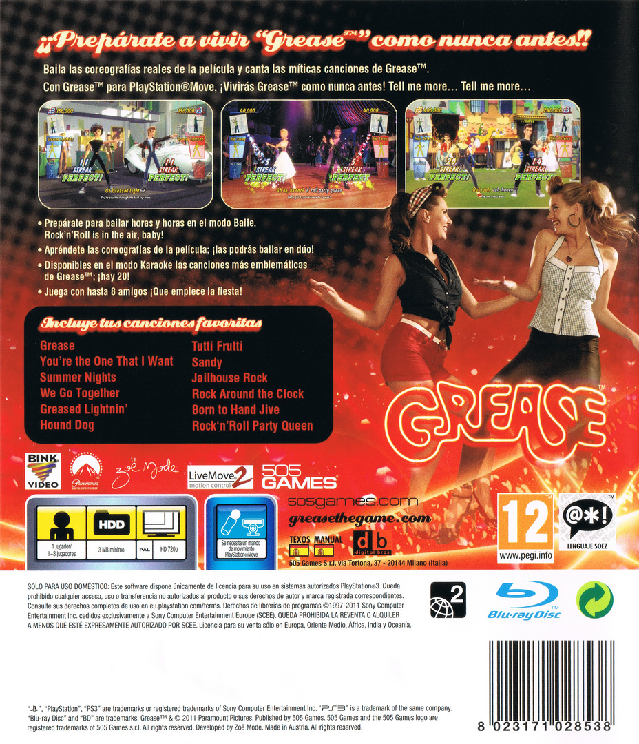 Grease Dance Array backHQ (BLES01410)