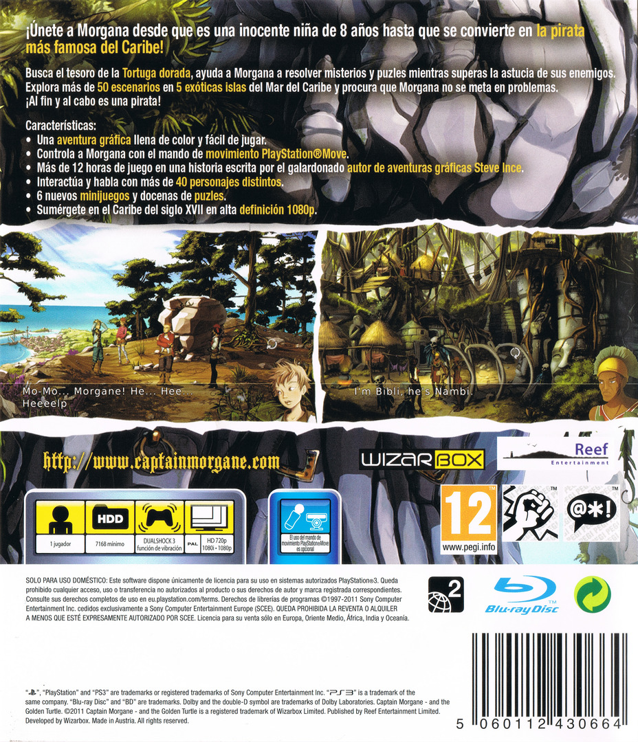 Captain Morgane and the Golden Turtle PS3 backHQ (BLES01463)