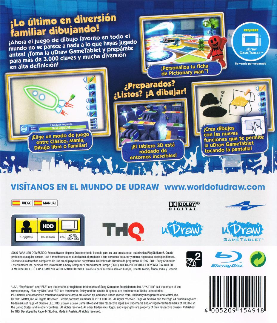 Pictionary: Edición Actualizada PS3 backHQ (BLES01474)
