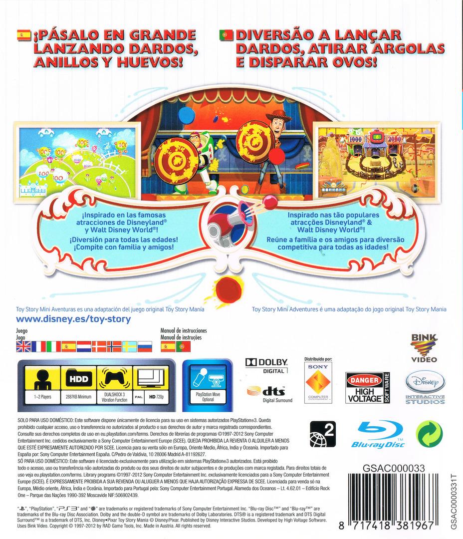 Toy Story: Mini Aventuras PS3 backHQ (BLES01730)
