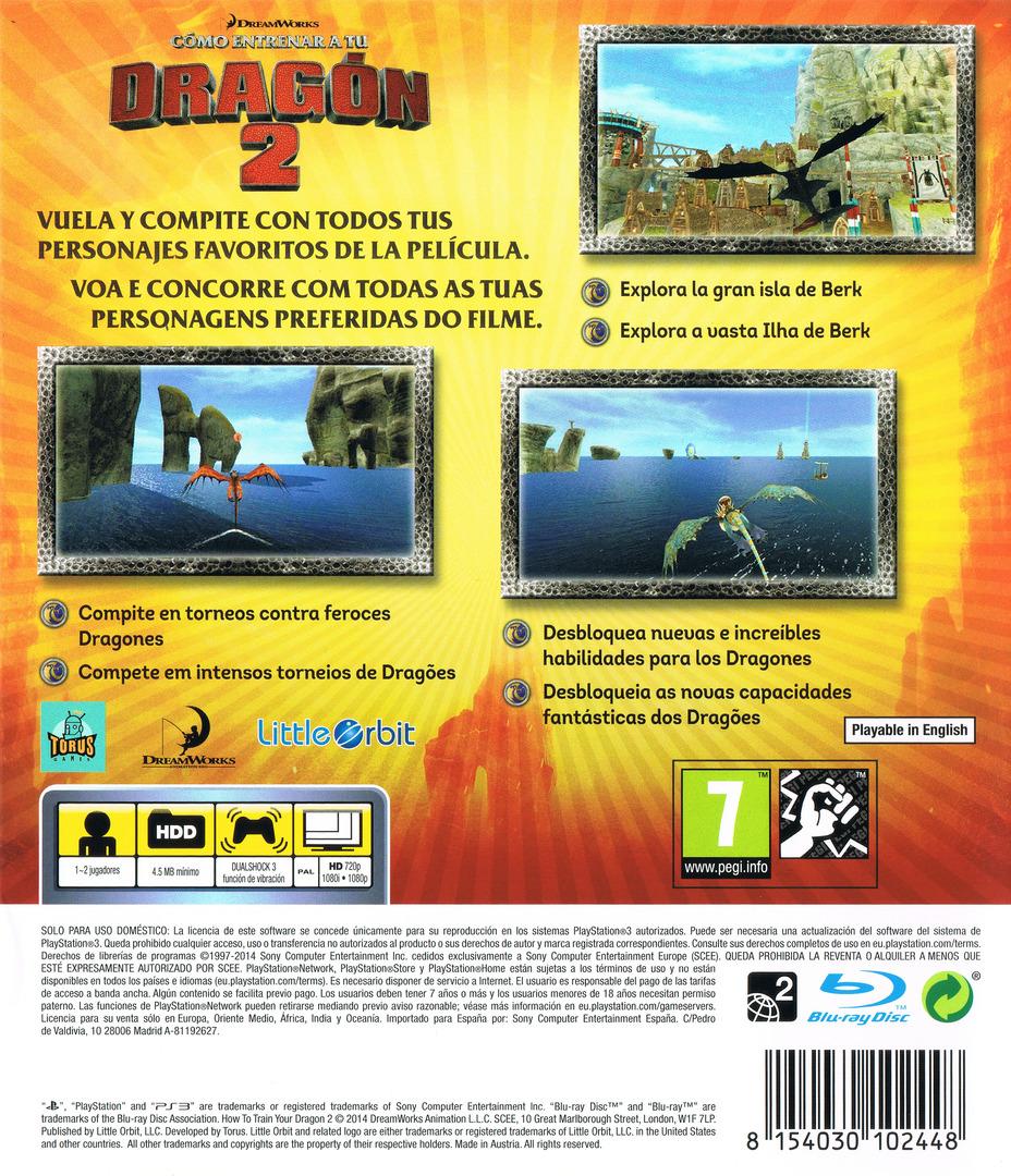 Cómo entrenar a tu Dragón 2 PS3 backHQ (BLES02005)