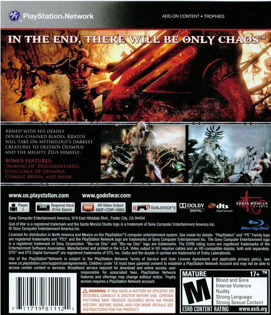 God of War III PS3 backHQ (BCUS98111)
