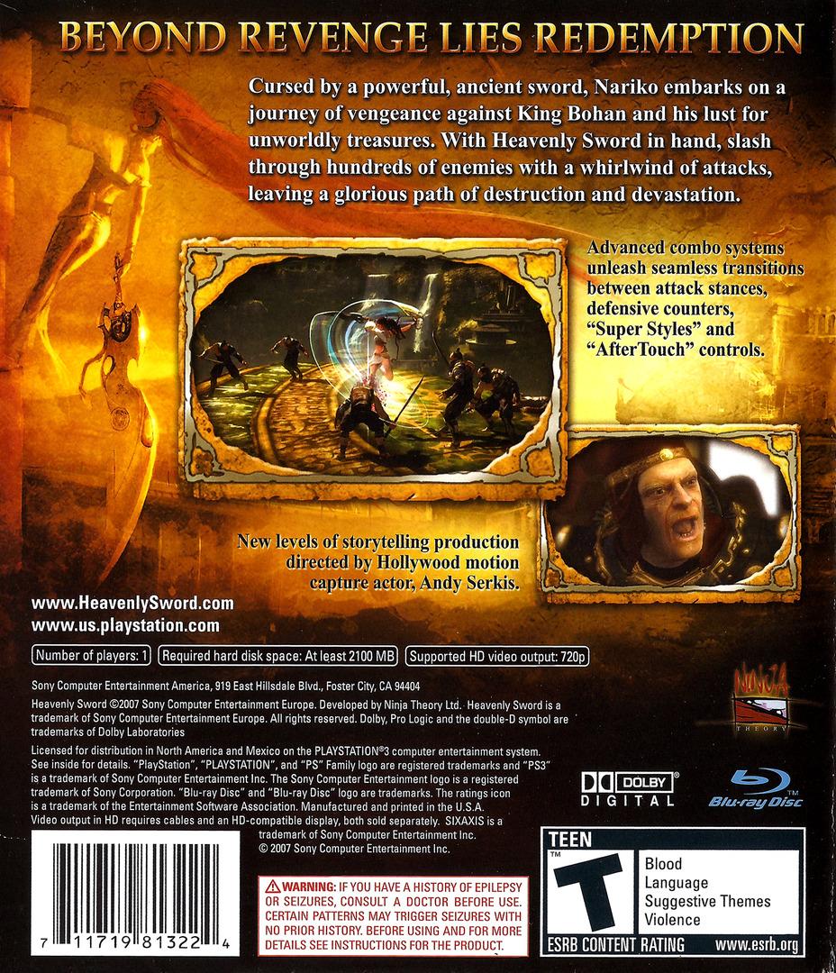 Heavenly Sword PS3 backHQ (BCUS98132)